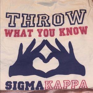 Comfort Colors Tops - Sigma kappa T-shirt